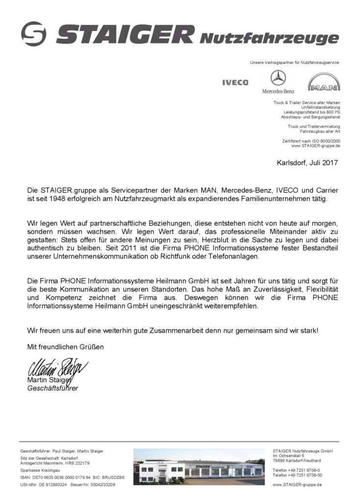 Referenzen - PHONE Informationssysteme Heilmann GmbH