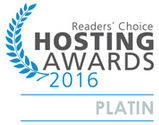 Readers Choice Hosting Awards 2016 Platin