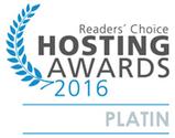 Readers Choice Hosting Awards 2016 Platin